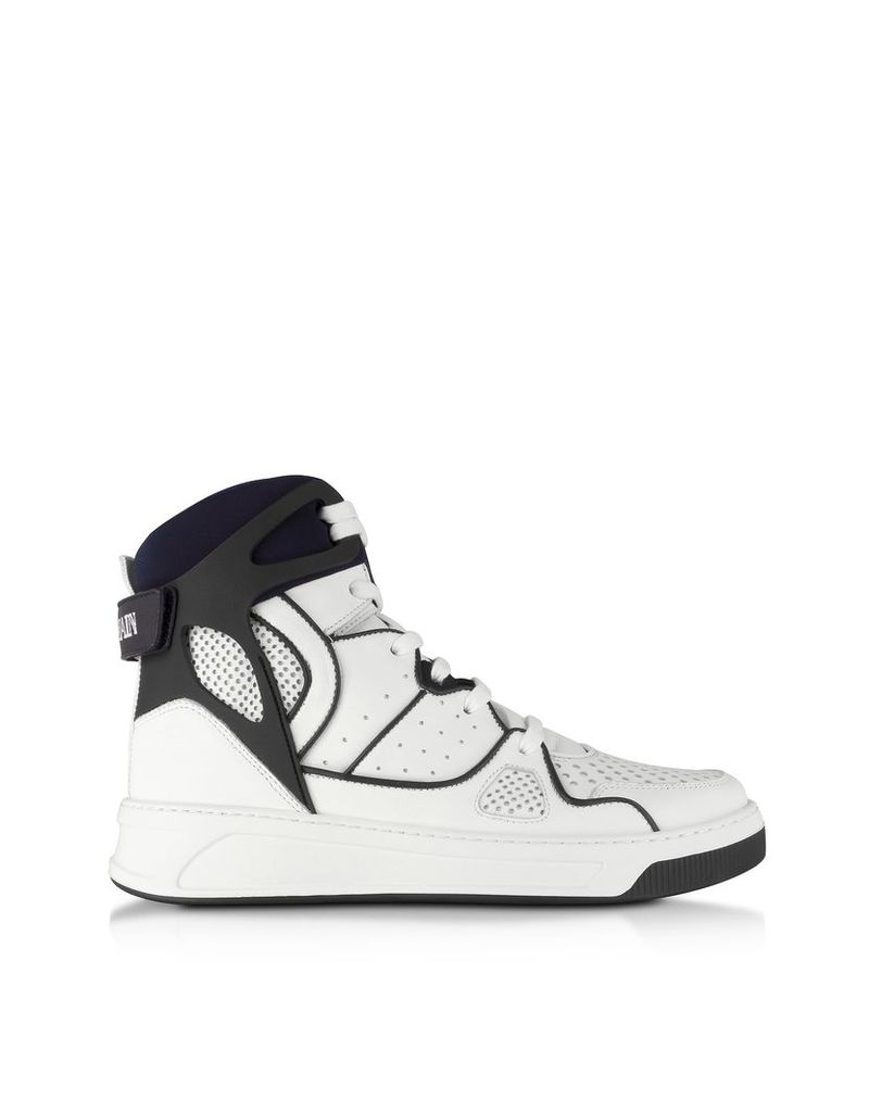 Balmain Designer Shoes, Keith Leather High Top Sneakers