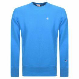 Champion Crew Neck Sweatshirt Blue