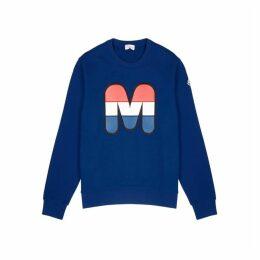 Moncler Blue Logo-appliquéd Cotton Sweatshirt