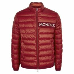 Moncler Neveu Red Quilted Shell Jacket