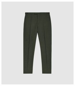Reiss Foster - Slim Fit Wool Trousers in Green, Mens, Size 38