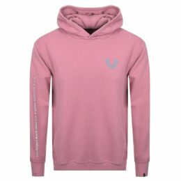True Religion Reflective Logo Hoodie Pink