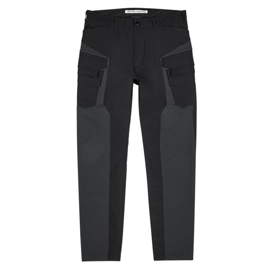 White Mountaineering Black Shell Cargo Trousers