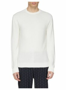 Ribbed panel silk-cotton sweater