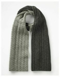 Cable Scarf Grey Marl Cable Men Boden, Grey