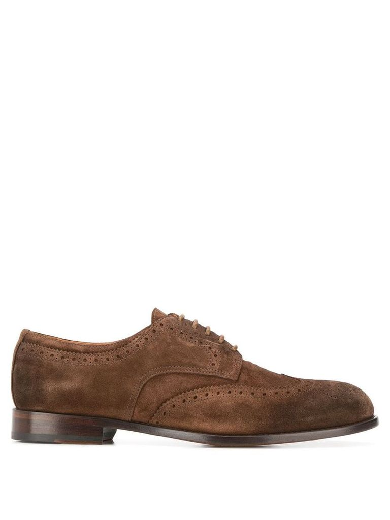 Doucal's perforated derby shoes - Brown