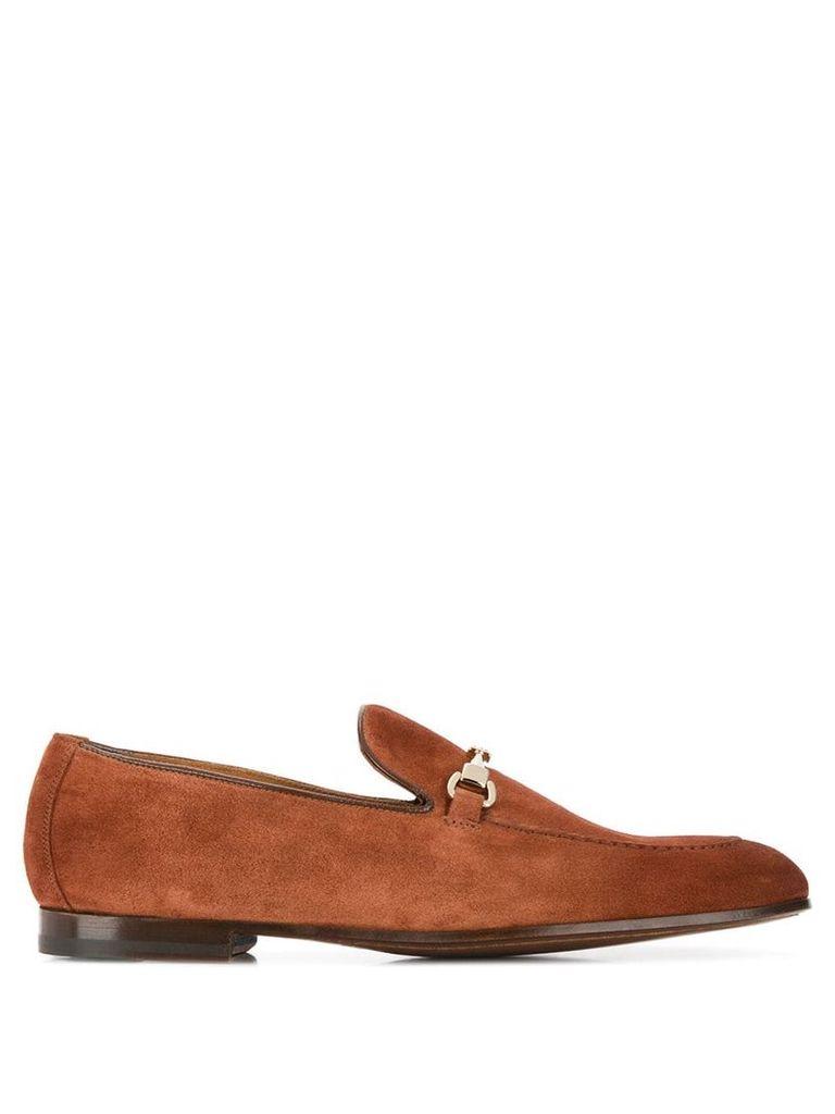 Doucal's horsebit detail loafers - Brown