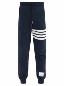 Thom Browne - Striped Cotton Track Pants - Mens - Navy