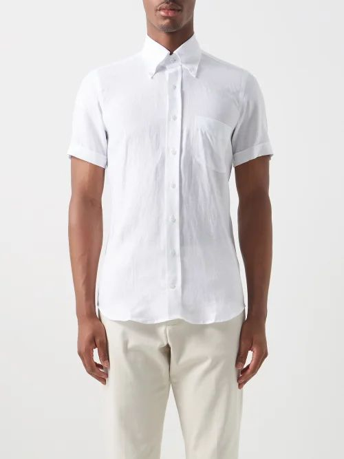 Hope - Take Tailored Cotton Twill Trousers - Mens - Dark Navy