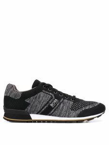 Boss Hugo Boss knitted lace-up sneakers - Black