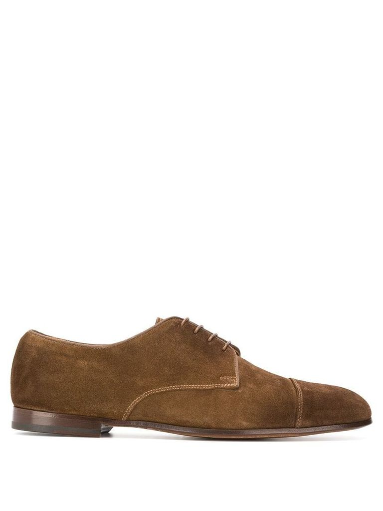 Doucal's lace-up derby shoes - Brown