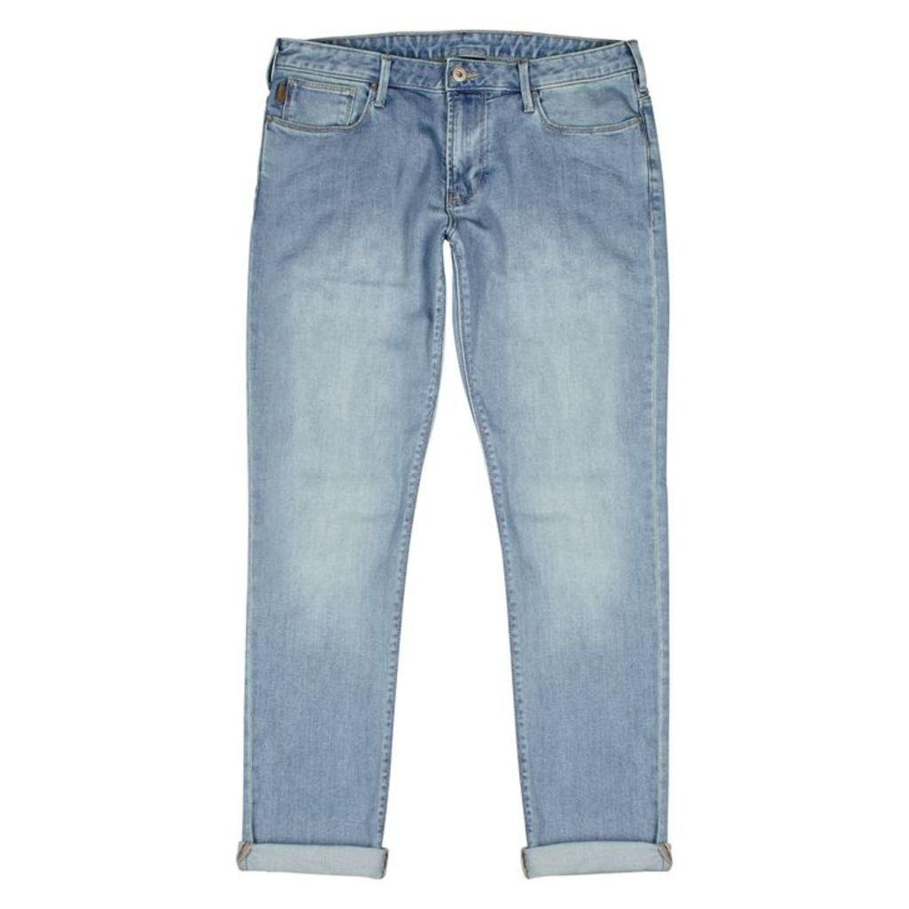 Emporio Armani Light Blue Slim-leg Jeans