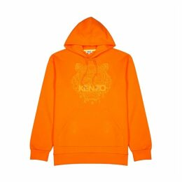 Kenzo Orange Tiger-embroidered Cotton Sweatshirt