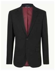 M&S Collection Black Textured Skinny Fit Jacket