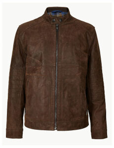 M&S Collection Suede Leather Biker Jacket