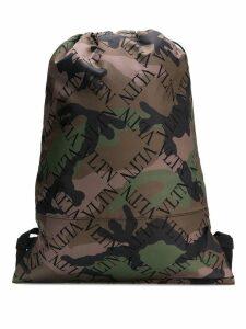 Valentino Valentino Garavani logo camo backpack - Green