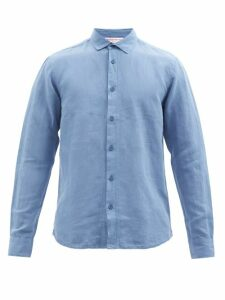 Burberry - Belted Relaxed Leg Cotton Twill Trousers - Mens - Brown