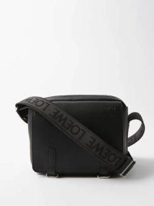 Burberry - Leopard Print Straight Leg Cotton Trousers - Mens - Brown