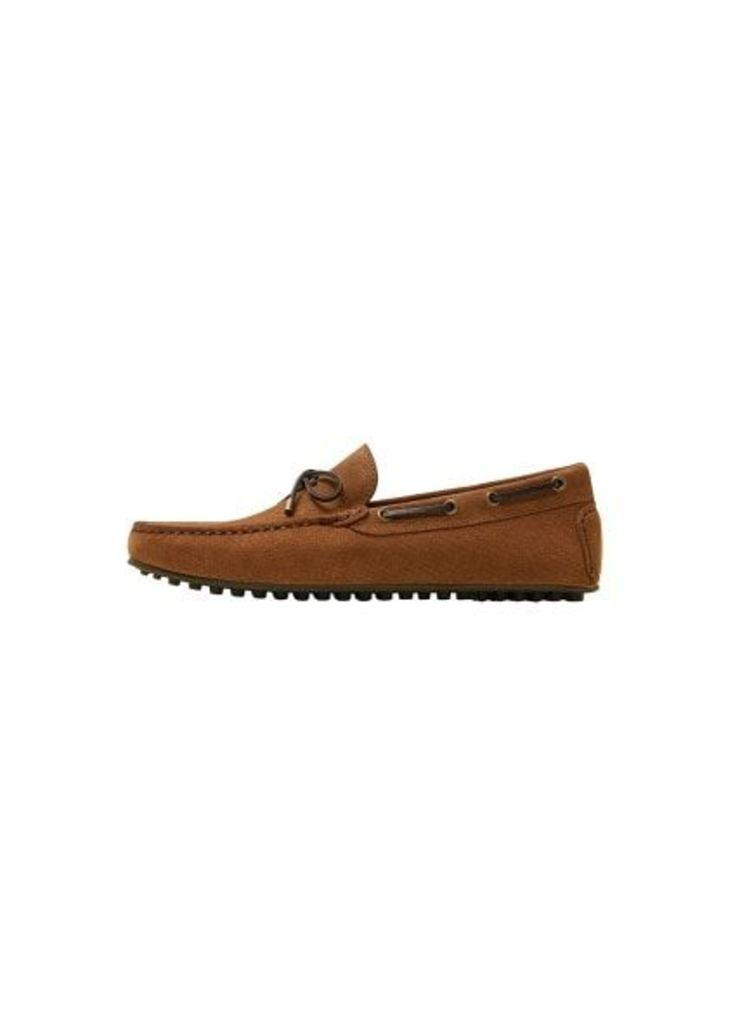 Suede driver loafers