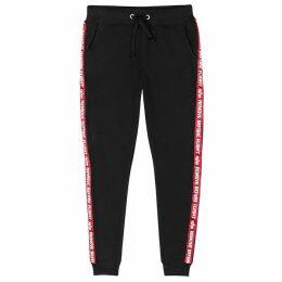 Alpha Industries Black Cotton-jersey Sweatpants