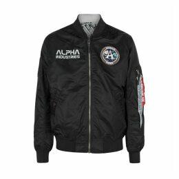 Alpha Industries Black Reversible Shell Jacket