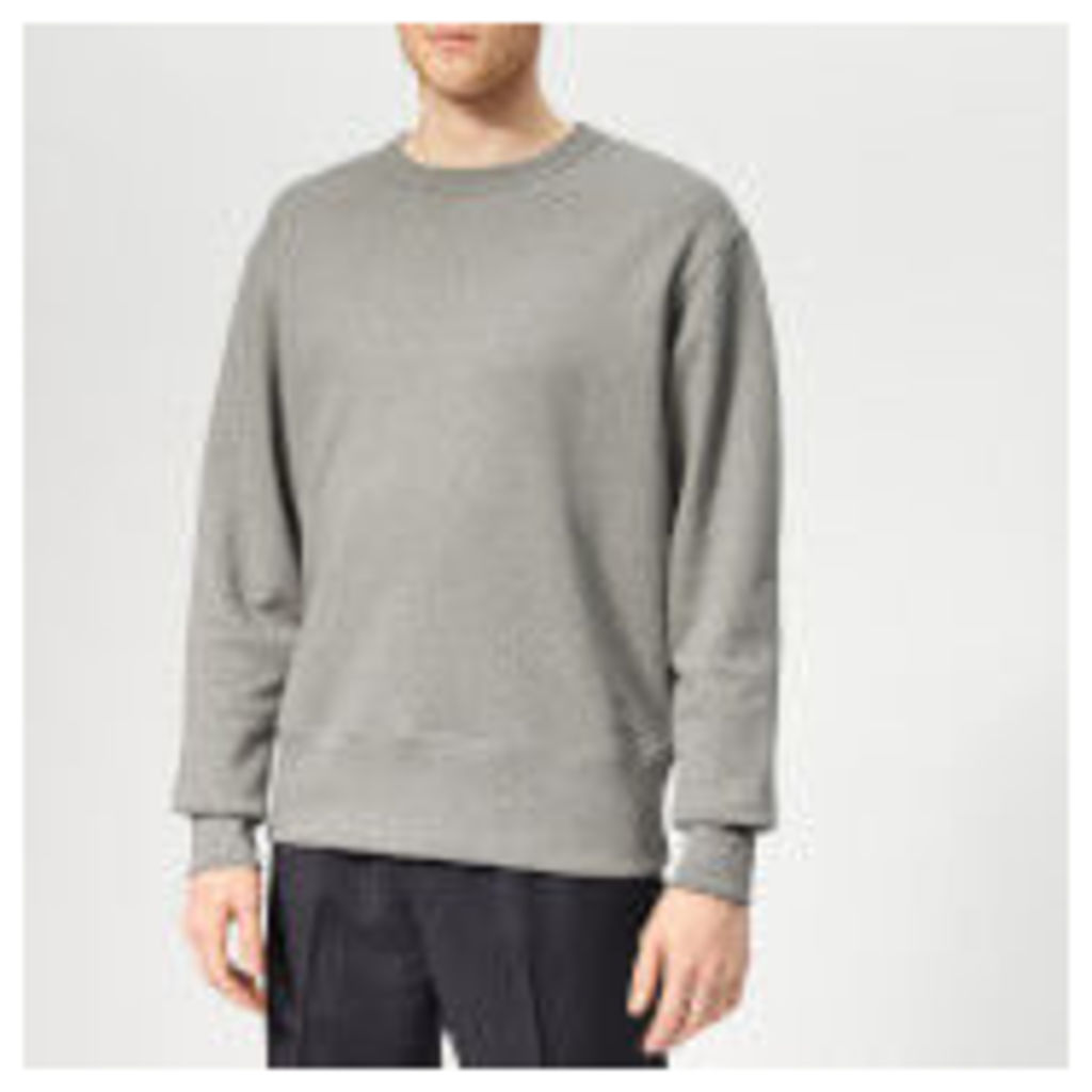 Acne Studios Men's Fayze Logo Sweatshirt - Grey Melange - XL - Grey