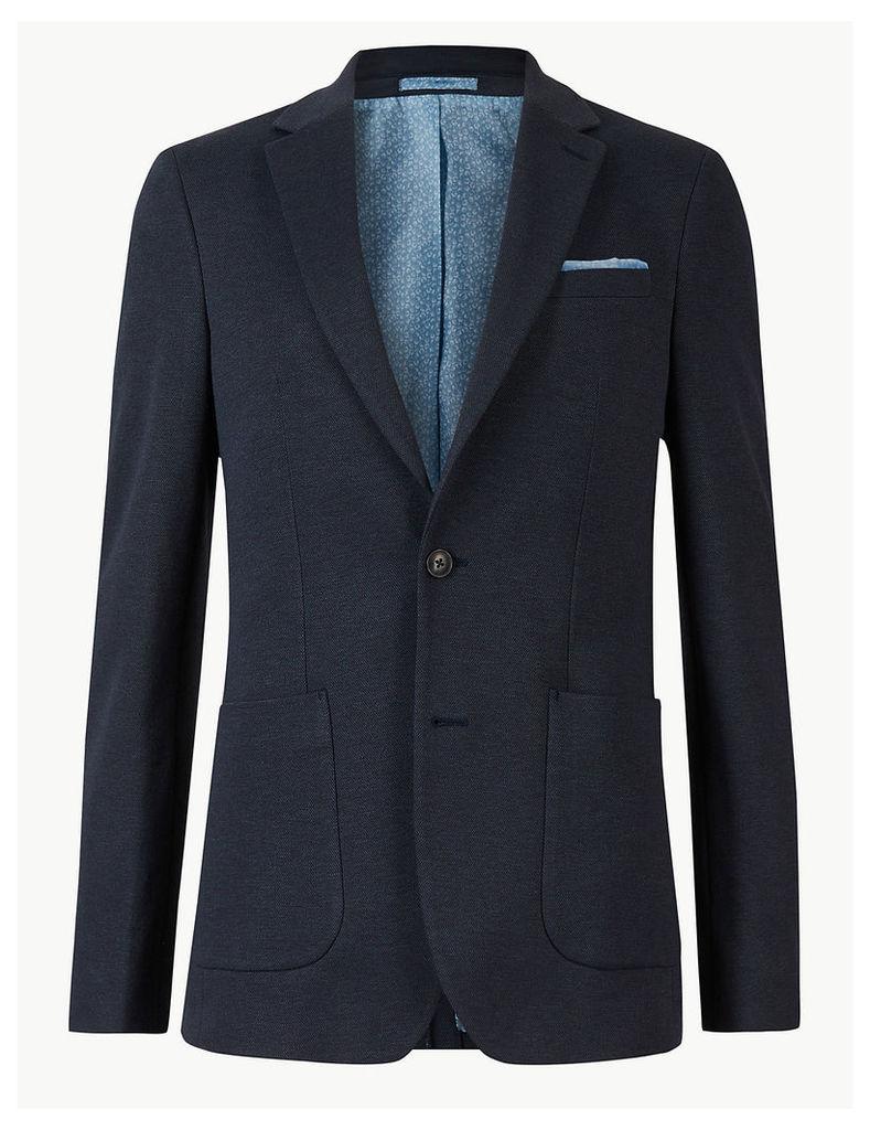 M&S Collection Big & Tall Indigo Cotton Blend Slim Jacket