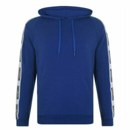 Moschino Logo Zipped Hooded Sweatshirt