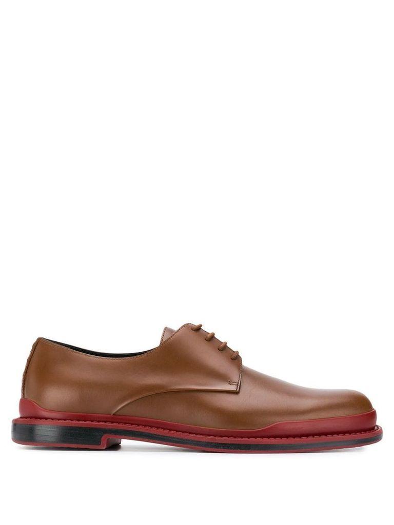 Bottega Veneta classic derby shoes - Brown