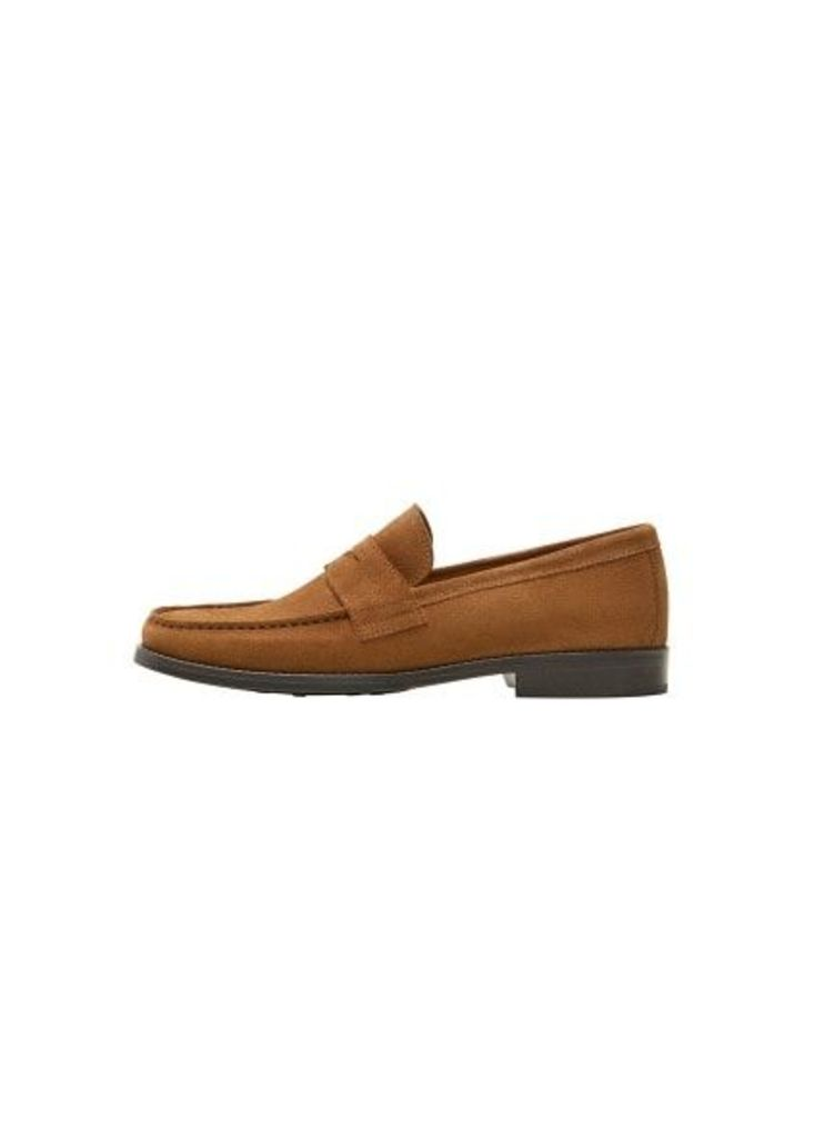 Suede leather moccasin