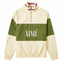 Aimé Leon Dore Logo Quarter Zip Popover Jacket Cream