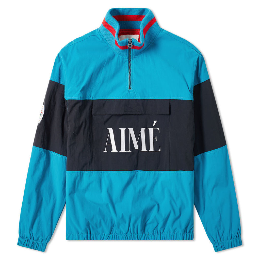 Aimé Leon Dore Logo Quarter Zip Popover Jacket Teal