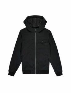 Mens Black Pep Hooded Jacket, Blue