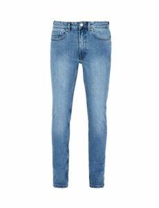 Mens Bleach Blue Tyler Skinny Fit Jeans, Blue