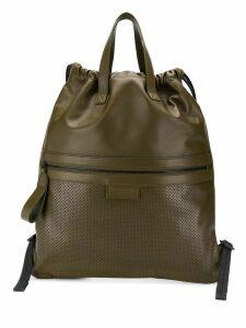 Bottega Veneta flat tote backpack - Green