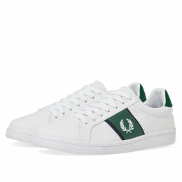 Fred Perry B721 Canvas Sneaker White & Green