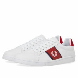 Fred Perry B721 Canvas Sneaker White & Red