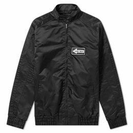Liam Hodges Nylon Racer Jacket Black
