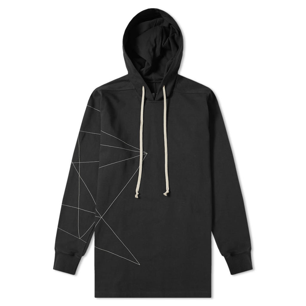 Rick Owens Embroidered Hoody Black