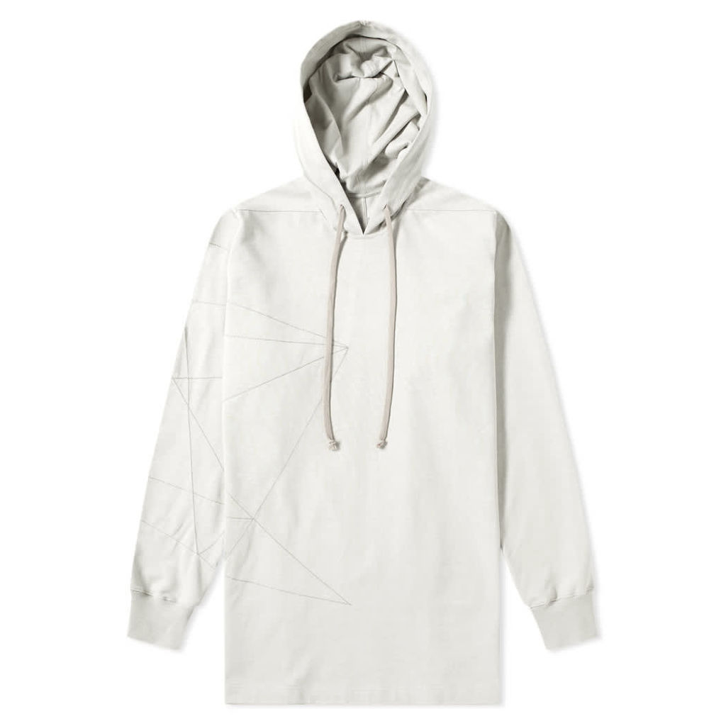 Rick Owens Embroidered Hoody Oyster