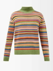 Jacquemus - Fishnet Knit Sweater - Mens - Orange