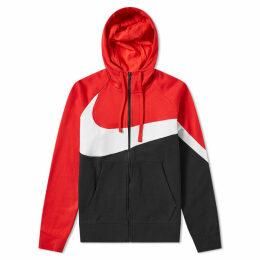 Nike Big Swoosh Zip Hoody Red, White & Black