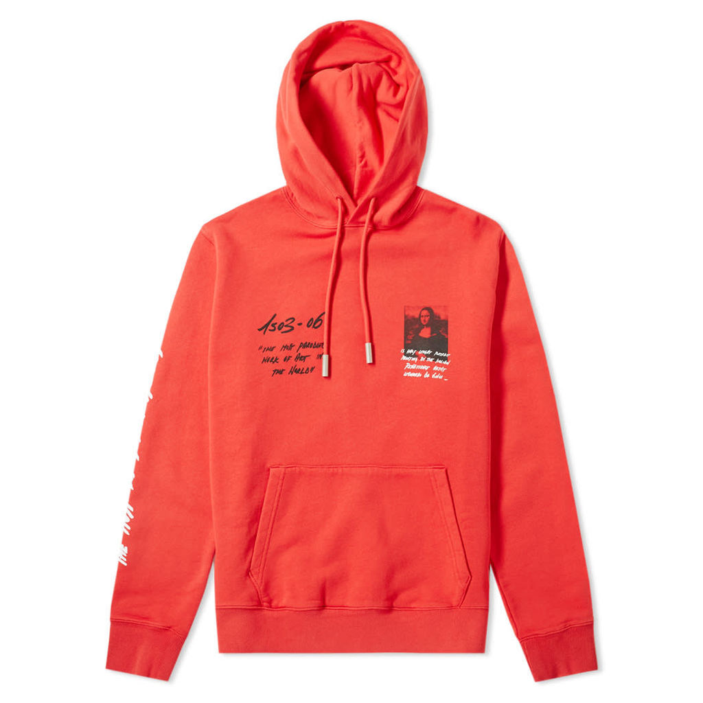 Off-White Mona Lisa Slim Hoody Red