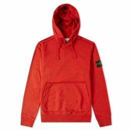 Stone Island Garment Dyed Popover Hoody Brick Red