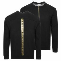 Versace Collection Logo Crew Sweatshirt Black