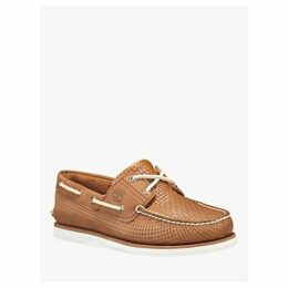 Timberland Classic Weave Boat Shoes, Med Brown