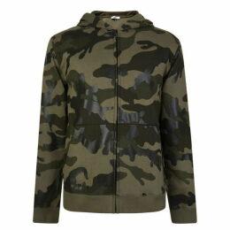 Valentino Camouflage Zip Hooded Sweatshirt