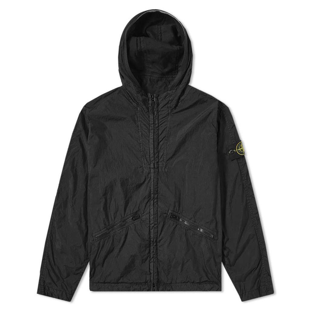 Stone Island Crinkle Reps Hooded Jacket Black