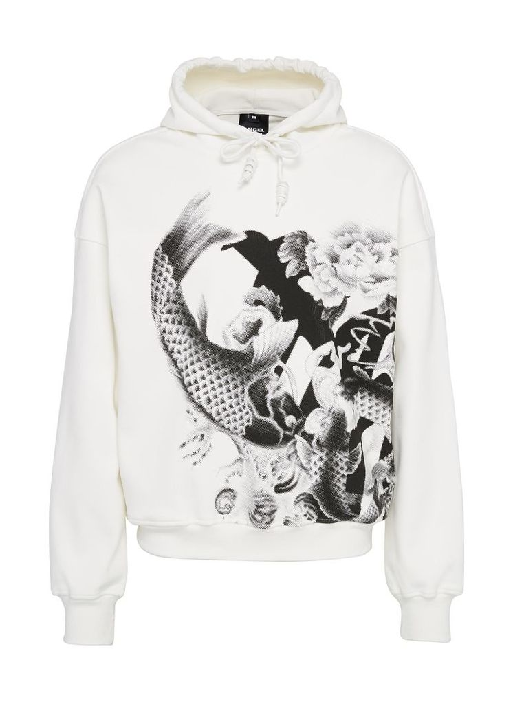 Graphic print unisex hoodie