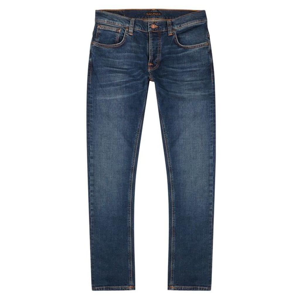 Nudie Jeans Grim Tim Slim-leg Jeans